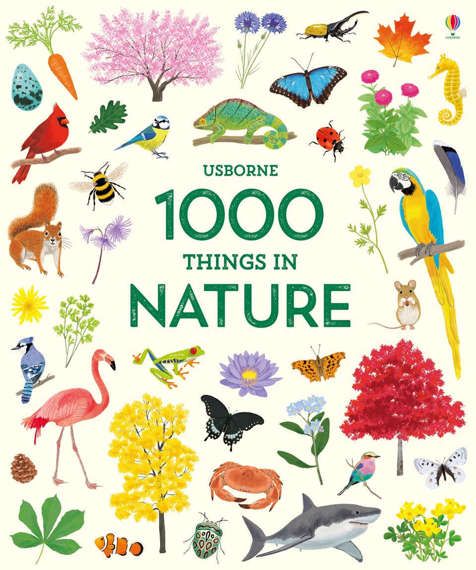 This Beautifully Illustrated Reference Book Shows 1000 Things Found In Nature From Familiar Bugs And Flowers To Exotic Birds Of Paradise Fascinating
